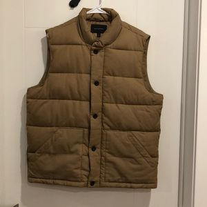 Banana Republic Light Brown Puffer Vest